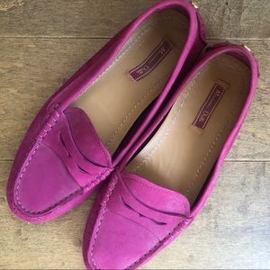 Beautiful Pink Suede Loafers